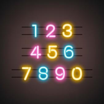 Nummer 0-9 cijfer systeemvector