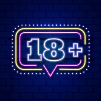 Nummer 18+ in neonstijl