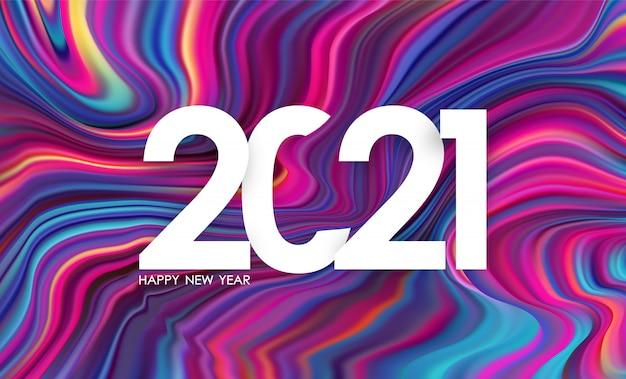 Nummer 2021. gelukkig nieuwjaar in trendy design