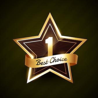 Nummer één beste keuze gouden label