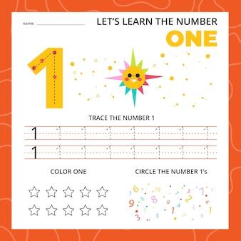 Nummer één werkblad voor kinderen