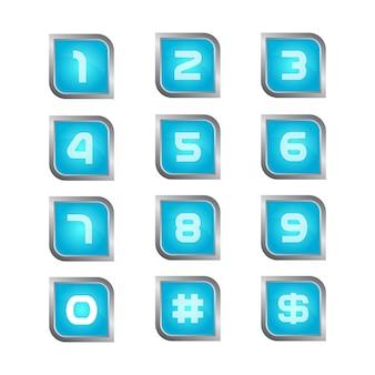 Nummer iconen collectie