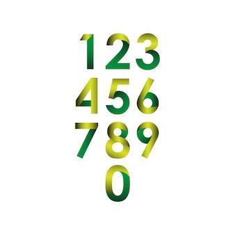 Nummer instellen vectorillustratie sjabloonontwerp