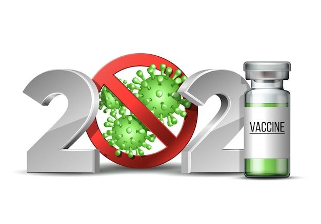Nummer met coronavirus-epidemie stopteken