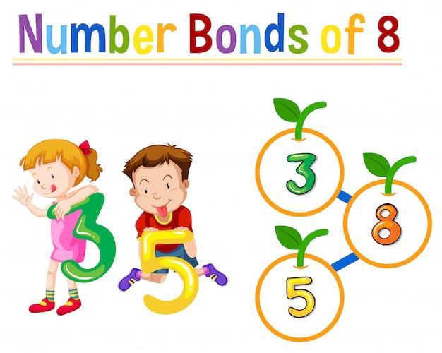 Nummer obligaties van acht