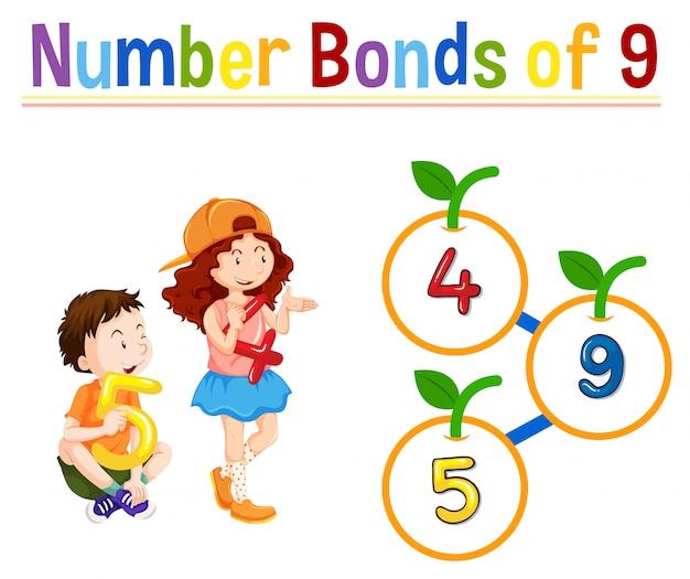 Nummer obligaties van negen