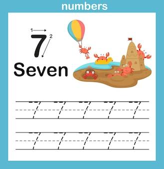 Nummeroefening met cartoon afbeelding