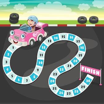Nummers bordspel illustratie voor kinderen onderwijs
