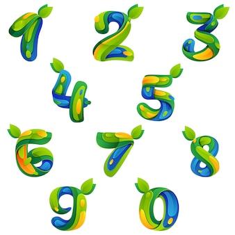 Nummers ecologie set
