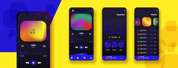 Nummers en artiesten muziekspeler-app