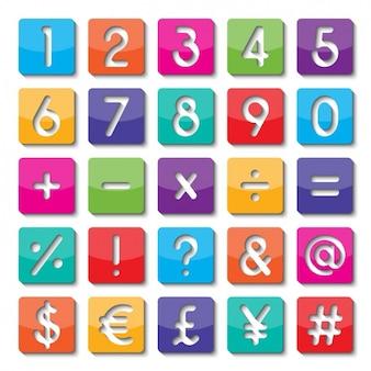 Nummers en symbolen van kleuren