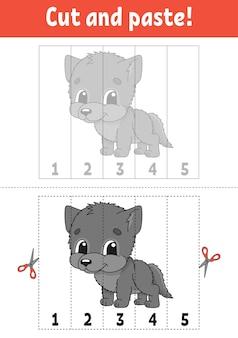 Nummers leren 15 knippen en lijmen