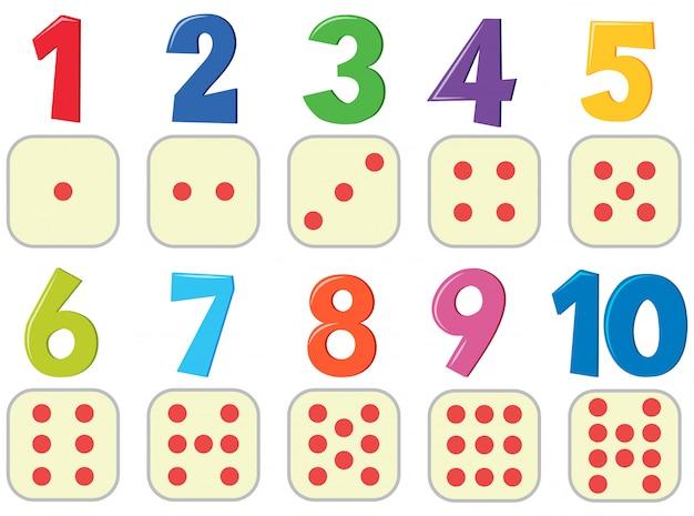 Nummers met afbeelding poster