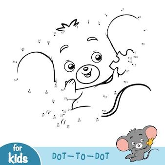 Nummers spel, onderwijs punt naar punt spel voor kinderen, muis