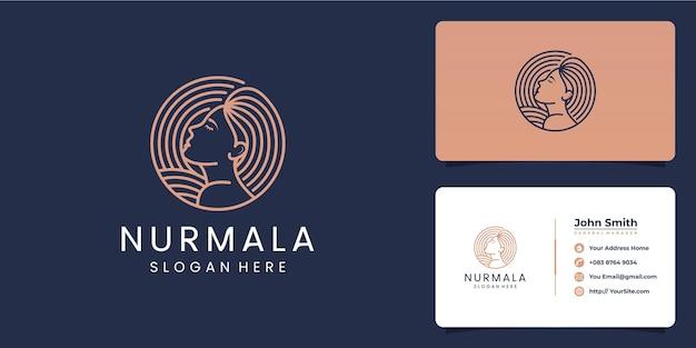 Nurmala mooie vrouw logo ontwerp
