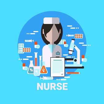 Nurse icon medical worker profiel avatar concept