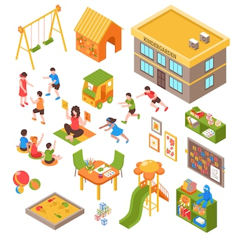 Nursery isometric elements set