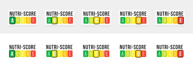 Nutri-score-systeem in frankrijk. teken gezondheidszorg voor verpakking. vector