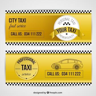 Nuttig banners voor taxidiensten