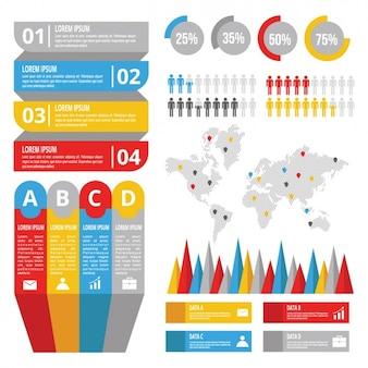Nuttig infographic sjabloon met verschillende hulpmiddelen