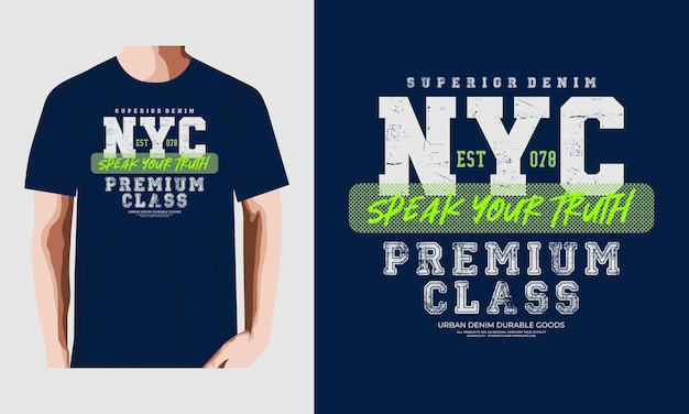 Nyc typografie t-shirt vector ontwerp illustratie premium vector premium vector Premium Vector