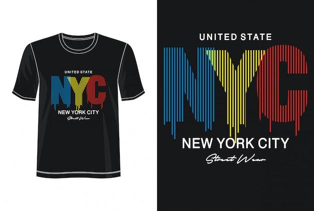 Nyc typografie voor print t-shirt