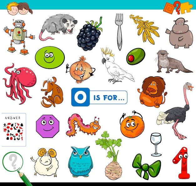 O is voor educatief spel voor kinderen