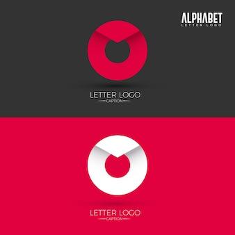 O origami style letter logo