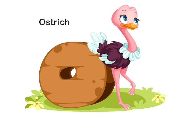 O voor struisvogel