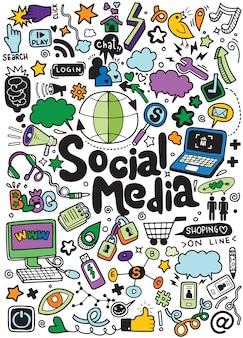 Objecten en symbolen op het sociale media-element