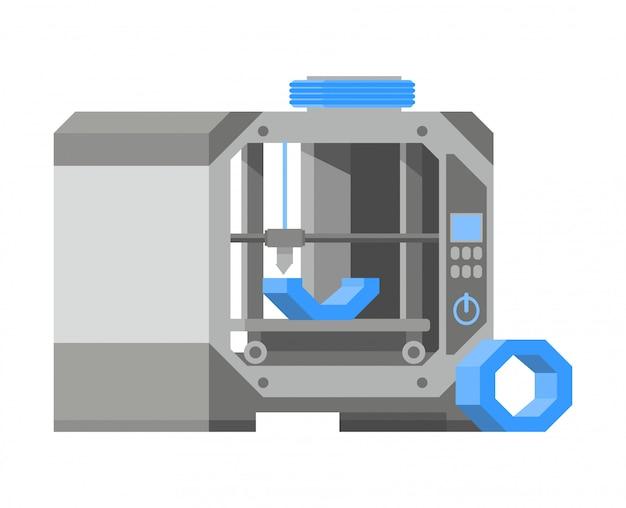 Objecten in 3d-printer afdrukken.