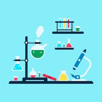 Objecten voor science lab