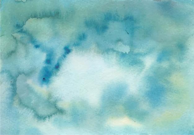 Oceaan blauwe abstracte textuur aquarel achtergrond