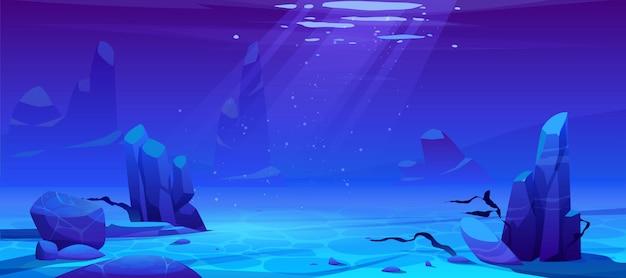 Oceaan of zee onderwater achtergrond. lege bodem