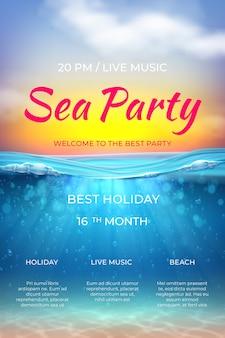 Oceaan onderwaterscène voor vakantie marien evenement