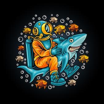 Oceaan tour illustratie