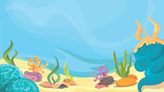 Oceaanbodem in cartoon-stijl