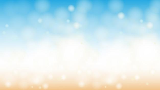 Oceaanstrand bokeh horizontale abstracte achtergrond