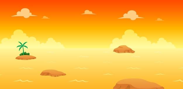Ocean evening game achtergrond