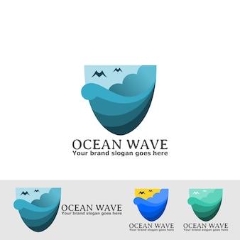 Ocean prism-logo met cloud