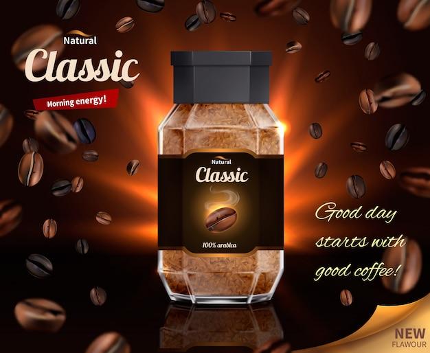 Ochtendenergie van natuurlijke koffie