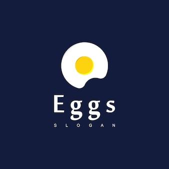 Ochtendontbijt vector design, eggs logo design inspiration