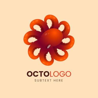 Octopus bedrijfslogo met tentakels