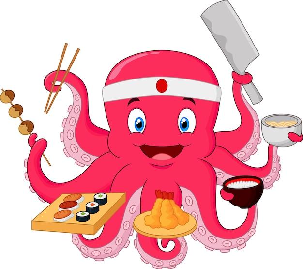 Octopus chef-kok