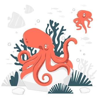 Octopus concept illustratie