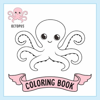 Octopus dieren kleurplaten boek