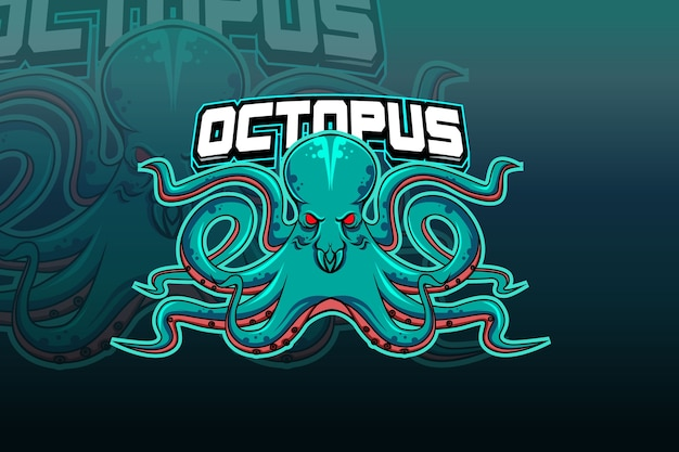 Octopus esport logo team sjabloon