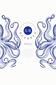 Octopus gekleurde sjabloon.
