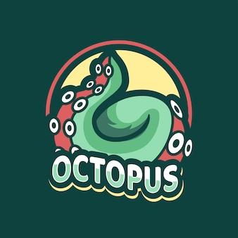 Octopus illustratie mascottes ontwerp