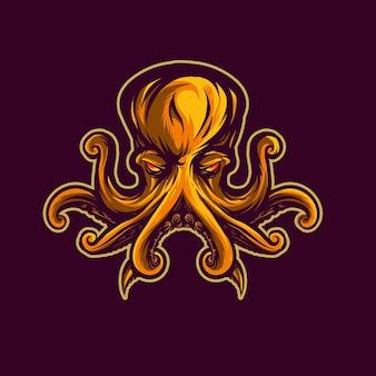 Octopus illustratie sjabloon